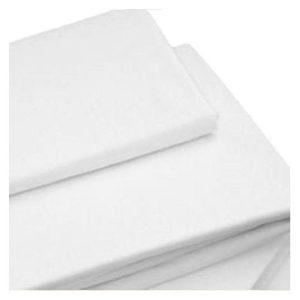100% ökotexes pamut gumis lepedő – fehér